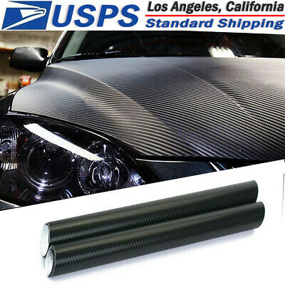 $6.47 • Buy 3D Car Black Interior Accessories Panel Carbon Fiber Vinyl Wrap Sticker 30*127cm