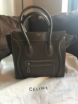 08b8a5fc63db Celine Micro Luggage In Souris Drummed Calfskin Leather In Excellent  Condition • 2