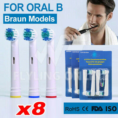 AU6.88 • Buy Braun Oral B Electric Toothbrush Replacement Heads Brushes Pack Of 8