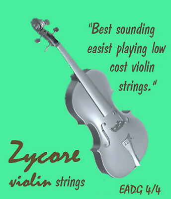 $15.95 • Buy Bluegrass &  Old Time  Fiddle Violin Strings Zycores 4/4  3 Sets FREE SHIP!!