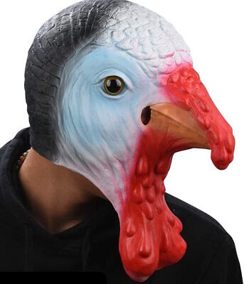 CHRISTMAS TURKEY Mask Latex Thanksgiving Fancy Dress Costume Animal Bird Chicken • 14.99£