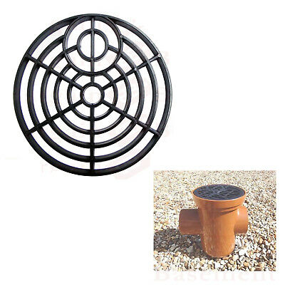 £2.69 • Buy Gulley Grid Drain Cover Lid Black Pvc 6 Inch 150mm Round Leaf Cover