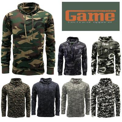 £14.95 • Buy Game Mens Military Camouflage Hoody Army Camo Pullover Sweatshirt Hooded Top
