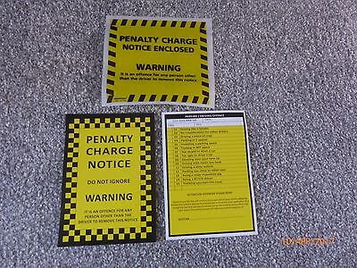 5 X Fake Joke Prank Parking Tickets With 5 Genuine Penalty Charge Envelopes • 1.60£