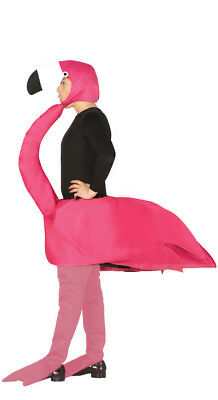 DELUXE Adult Flamingo Fancy Dress Costume Bird Men Ladies Animal Unisex Stag Do • 22.99£