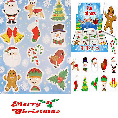 £2.98 • Buy 12 & 24 Christmas Sticker Sheets  Xmas Children's Party Goody  Loot Bag Filler