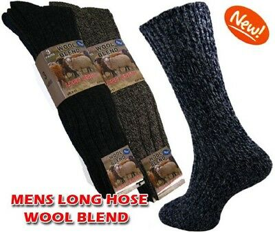 Men's Long Wool Socks,Heavy Duty Thick Chunky Work Boot Thermal Warm Cosy UK Lot • 12.99£