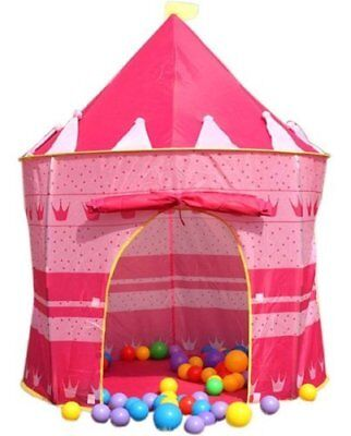NEW! Children's Kids Pink Castle Pop Up Play Tent Fairy Princess Wendy House  • 14.03£