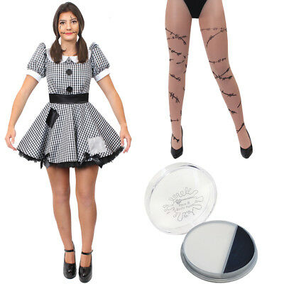 £17.99 • Buy Ladies Broken Doll Costume Adults Scary Halloween Horror Fancy Dress Outfit