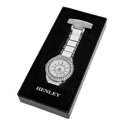 £25.16 • Buy Personalised Engraved Henley Nurses Fob Watch White & Silver Diamante Gifts
