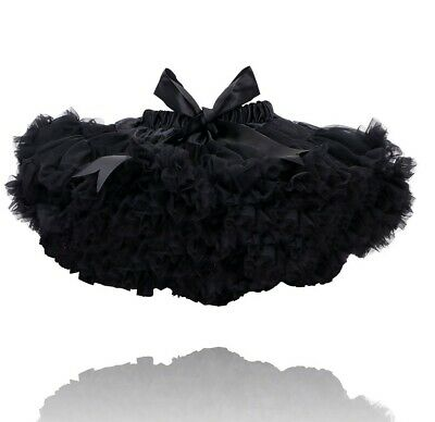Black Kids Childrens Tutu Luxury Deluxe 7-9 Years Dance Ballet Fancy Dress Uk  • 8.50£