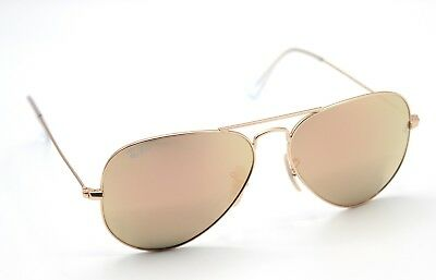4ebdc8c07f2 New Ray-Ban RB3025 112 Z2 Matte Gold Rose Gold Aviator Sunglasses 58mm