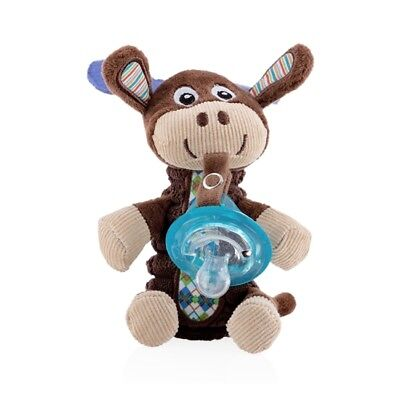 $22.99 • Buy Nuby Snugglees Baby Reindeer Moose Stuffed Plush Pacifier Clip Attachment New