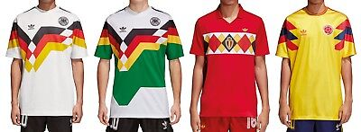 Adidas Originals Germany Colombia Belgium Jersey Tricot T-Shirt • 61.88£