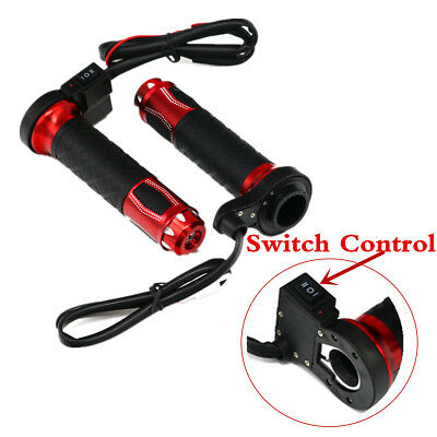 $25.40 • Buy 1 Pair Motorcycle Electric Heated Handle Grips Temp Adjustable Switch Control
