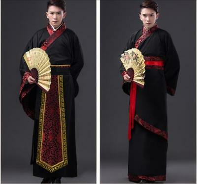 Chinese Mens Han Clothing Emperor Cos Prince Show Cosplay Suit Ancient Costume • 19.98£