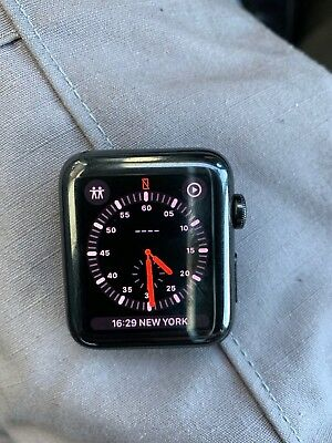 $ CDN660.55 • Buy Apple Watch Series 3 42mm Space Black Stainless Steel Case With Black Sport Band