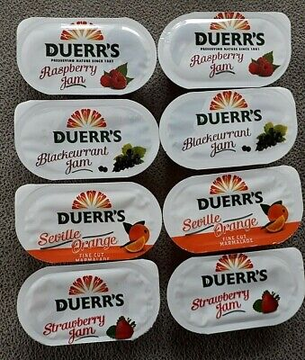 Duerrs Assorted Jam Portions BB Sept 2021 - Select Your Pack Size NEW STOCK • 6.99£