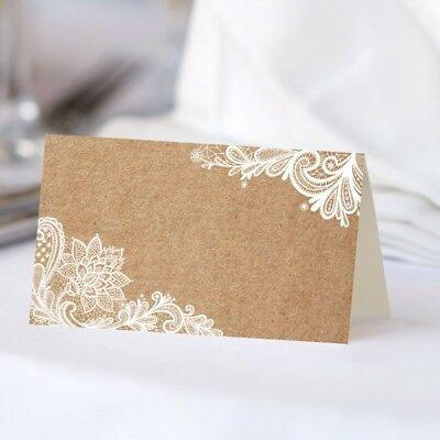 Wedding Place Cards - Rustic Lace Pattern - Pack Of 10 • 6£