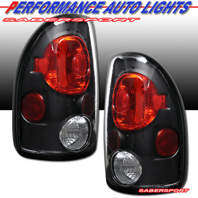 $62 • Buy Set Of Pair Black Clear Taillights For 1997-2004 Dodge Dakota