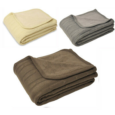 £42.49 • Buy Paoletti Hathaway Cable Knit Throw, 127 X 180 Cm