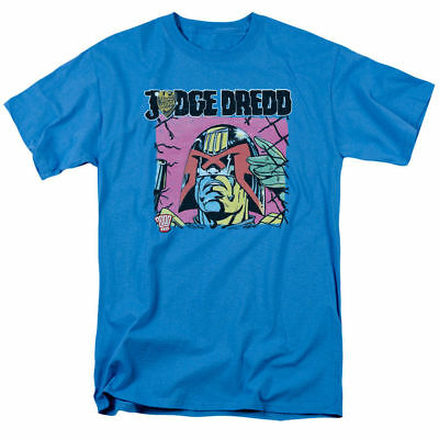New Judge Dredd Fenced Licensed Adult T Shirt Small Turquoise Screen Print  • 7.15£
