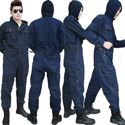 $59.79 • Buy Mens Denim Workwear Mechanic Womens Jumpsuit Protective Jeans Overalls Coveralls