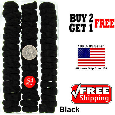 $4.60 • Buy Girls Kids Black Scrunchie Hairband Hair Rope Elastic Headband Accessories