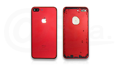 RED - Metal Chassis Rear Replacement Housing Back Cover For IPhone 7 PLUS UK • 12.99£