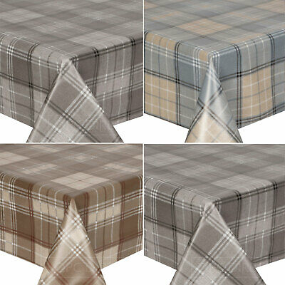 £11.99 • Buy Tartan Tweed Woven Plaid Check Wipe Clean PVC Tablecloth Table Cover Vinyl