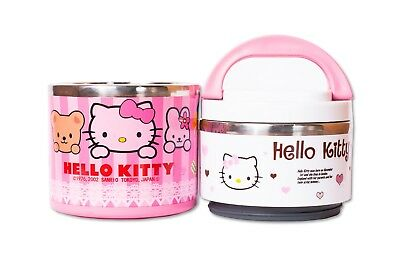 £10.99 • Buy Kids Hello Kitty Character Non-Spill Lunch Box For School, Picnics & Outdoor