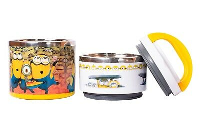 Kids Minions Character Non-Spill Lunch Box For School, Picnics & Outdoor • 9.99£