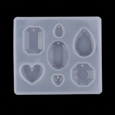 Silicone Diamond Gem Pendant Charms Mould For DIY Necklace Bracelet Earrings • 1.76£