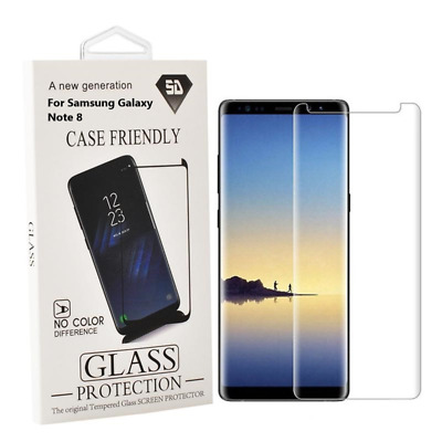 $ CDN8.82 • Buy Samsung Galaxy Note 8 Case Friendly 3D Curved Tempered Glass Screen Protector Cl