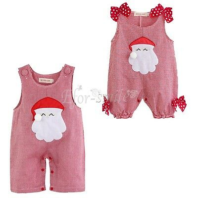 AU15.39 • Buy Infant Baby Girls Boy Clothes Christmas Romper Outfit Santa Clause Costume 0-18M