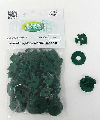 50 Super Elloplugs™ Greenhouse Insulation / Shading Clips With Washers  • 6.95£