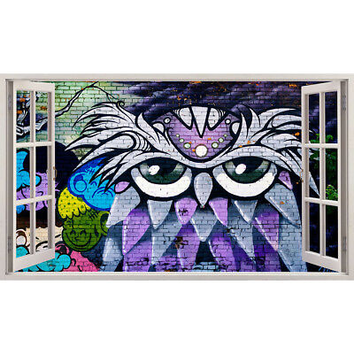 Wall Stickers Owl Grafitti Art Cool Bedroom  Bedroom Girls Boys Living Room G041 • 44.49£