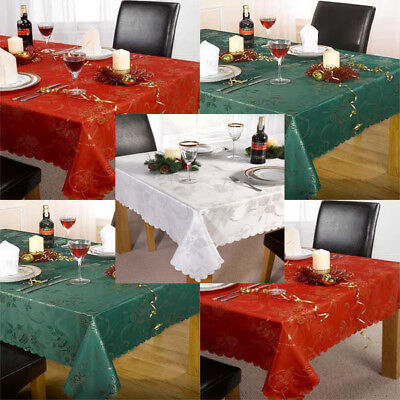 Linens Limited Angelica Jacquard Woven Christmas Tablecloth • 6.49£