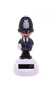 NOVELTY SOLAR POWERED DANCING POLICE MAN, DASHBOARD TOY, HOME OR CAR Gifts • 6.50£