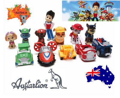 AU16.89 • Buy 12pcs Paw Patrol Puppy Rescue Character Toys Action Figure Figurine Cake Toppe