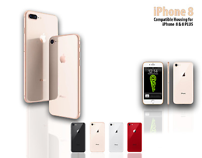 For IPhone 8 / 8 Plus REPLACEMENT Rear Frame Housing Back Battery Cover + Bezel  • 17.99£