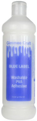 Gimmee Craft PVA Glue NON TOXIC BLUE LABEL Kids Craft Children Art Slime 🇬🇧 • 4.99£