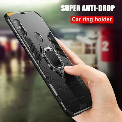 New Tough Shockproof Hybrid Rugged Armor Ring Stand Back Case For Samsung IPhone • 3.79£