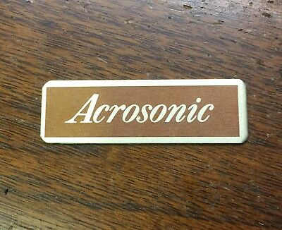 $6.99 • Buy Vintage NOS Baldwin Acrosonic Piano Cabinet Decal Plate