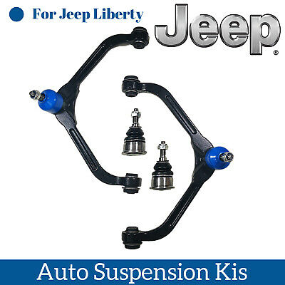 $94.99 • Buy 4 Pc Front Suspension Parts Upper Control Arms And 2 Lower Ball Joints For JEEP