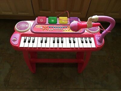 £20 • Buy Chad Valley Sing Along Keyboard Stand And Stool Pink 3+ Years