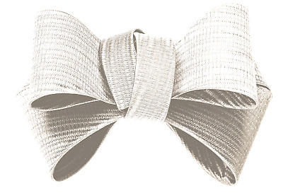 £14.99 • Buy Shoelery Textured White Triple Bow (pair) - Shoe Clips By Erica Giuliani