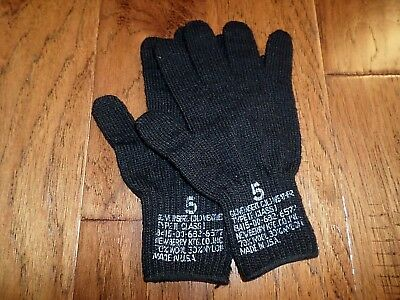 $9.99 • Buy U.s Military Issue D3a Cold Weather Glove Liners 70% Wool 30% Nylon Size 5 Large