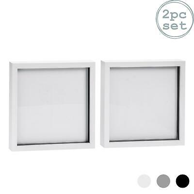 Box Picture Frame Deep 3D Photo Display 10x10 Inch Standing Hanging White X2 • 14.99£