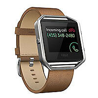 AU24.78 • Buy Fitbit - Blaze Leather Luxe Accessory Band (Small) – Camel FB159LBCMS